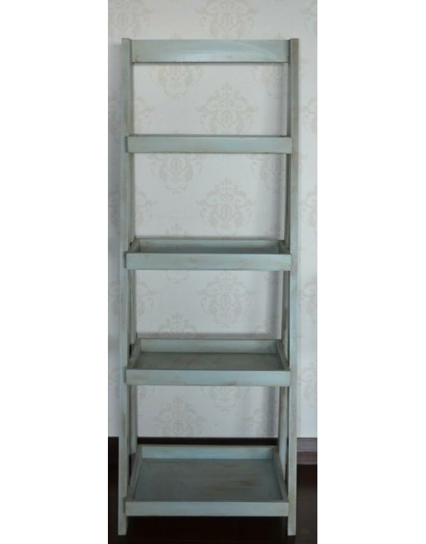 Repisa escalera celeste/gris