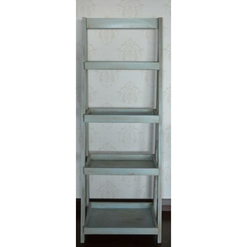 Repisa escalera celeste gris lasvial for Repisa escalera