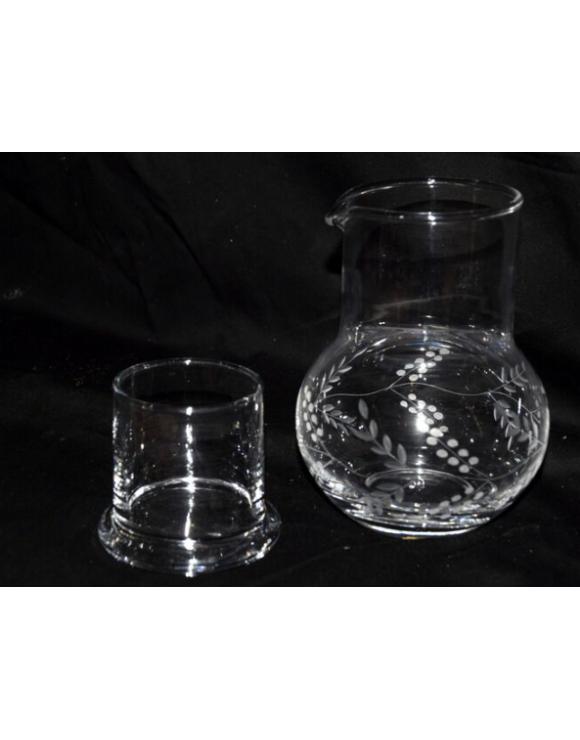 Jarro con vaso/tapa