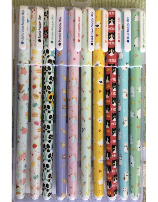 Set de 10 lápices tinta de diferentes colores op.2