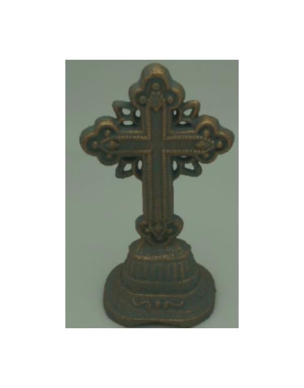 Cruz con pedestal de fierro
