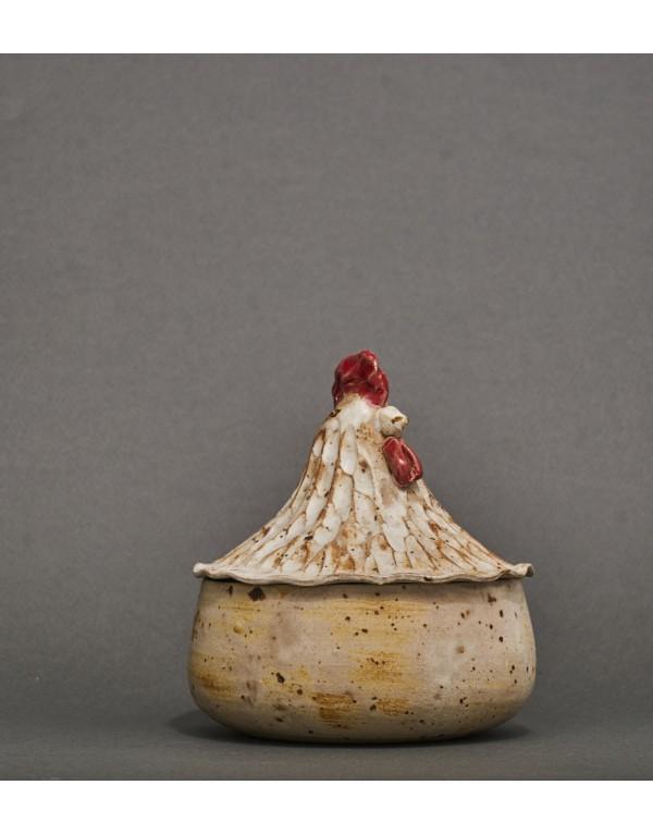 Gallina cerámica gres mediana