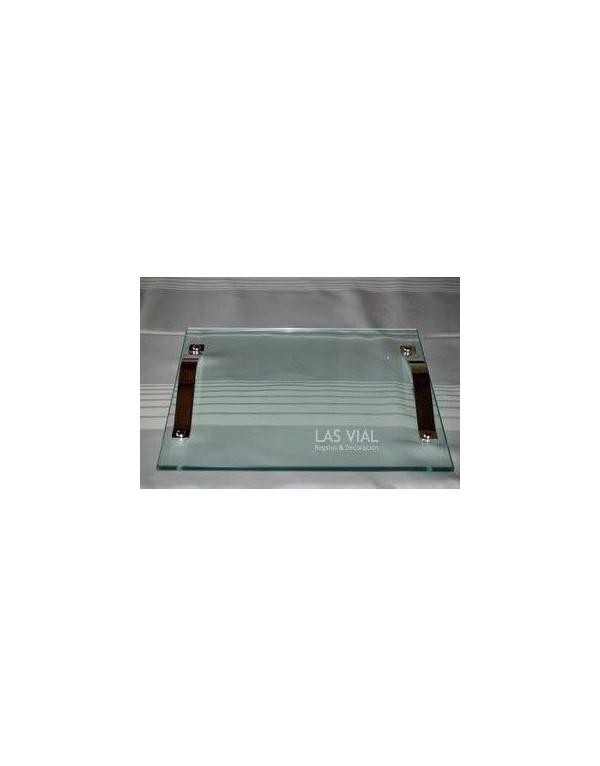 Bandeja de vidrio con plaque